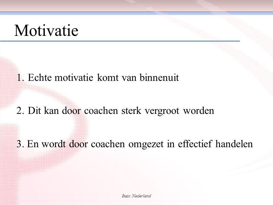 Motivatie 1. Echte motivatie komt van binnenuit