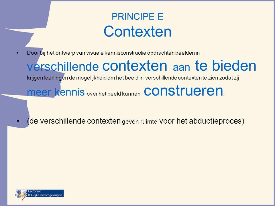 PRINCIPE E Contexten