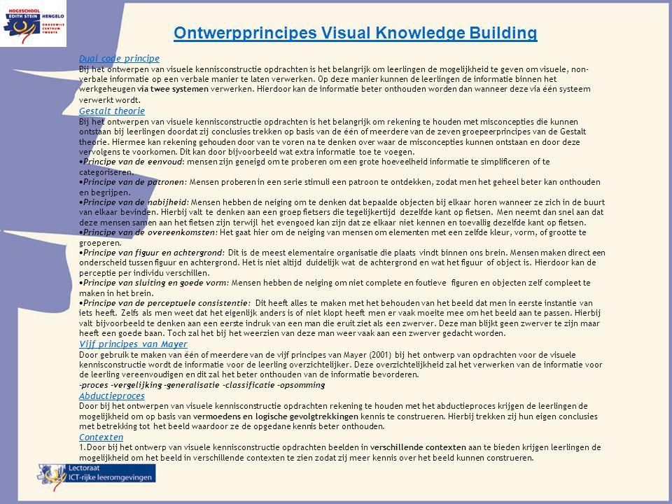 Ontwerpprincipes Visual Knowledge Building