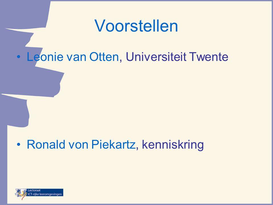 Voorstellen Leonie van Otten, Universiteit Twente
