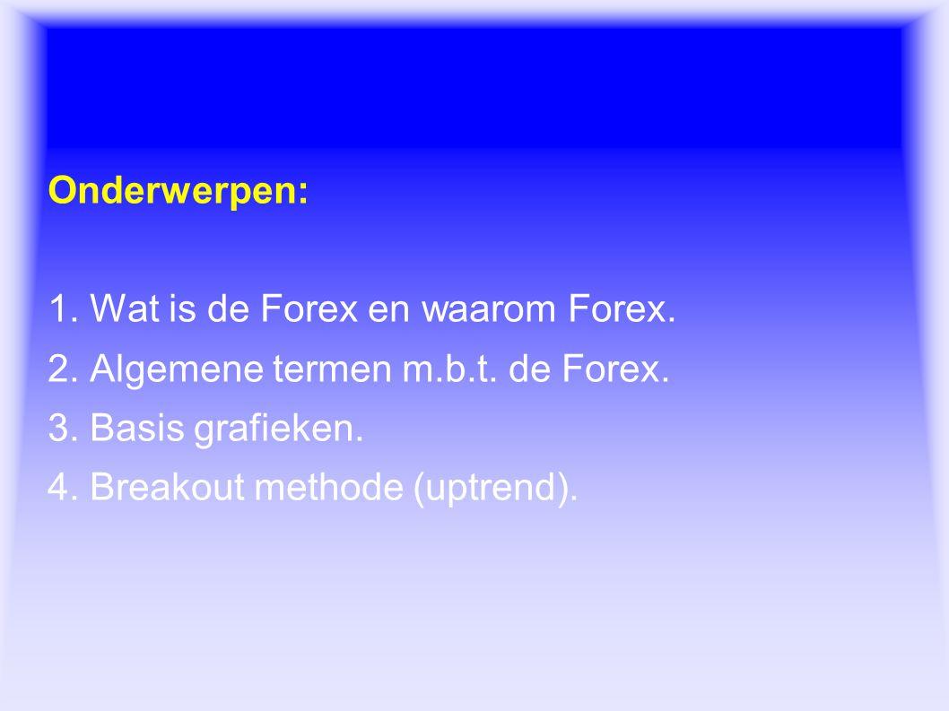 Forex Onderwerpen: 1. Wat is de Forex en waarom Forex.