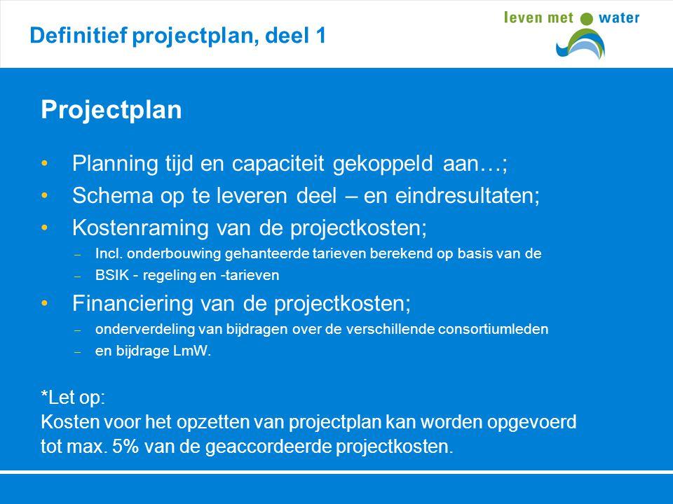 Projectplan Definitief projectplan, deel 1