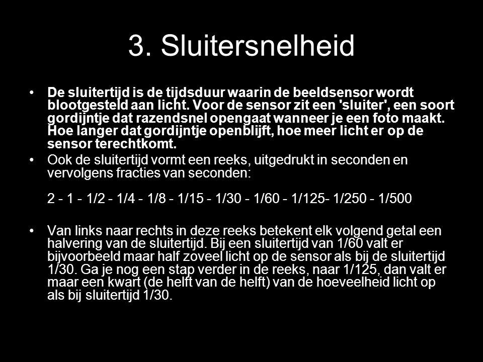 3. Sluitersnelheid