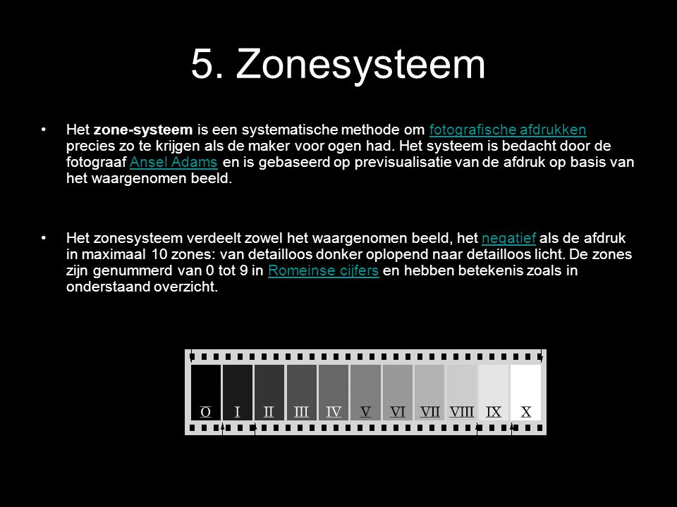 5. Zonesysteem