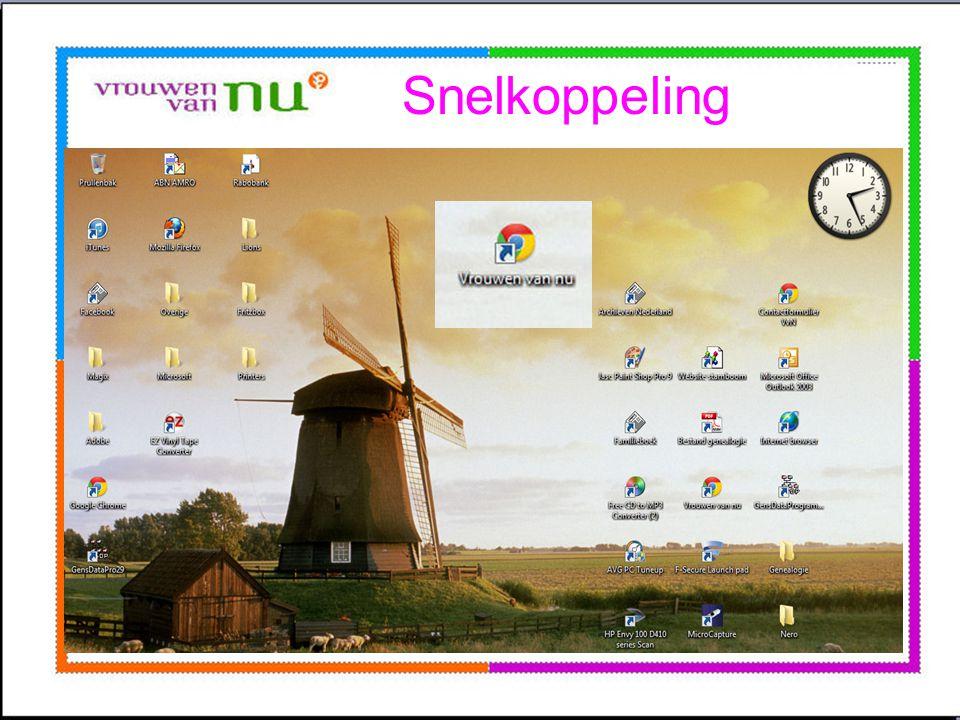Snelkoppeling Openingsscherm computer Wordt bureaublad genoemd.