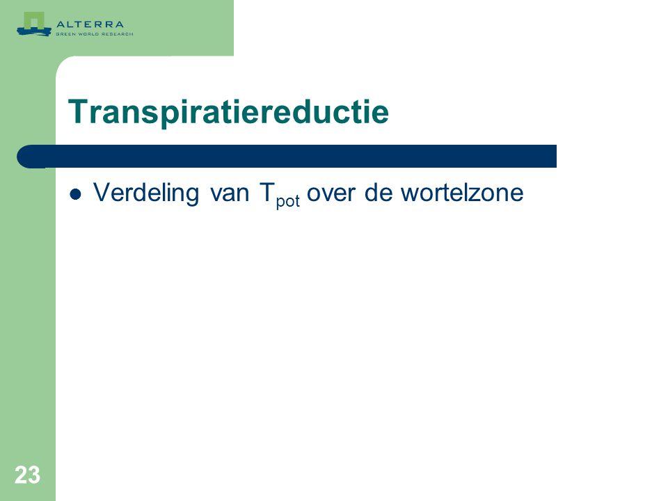 Transpiratiereductie