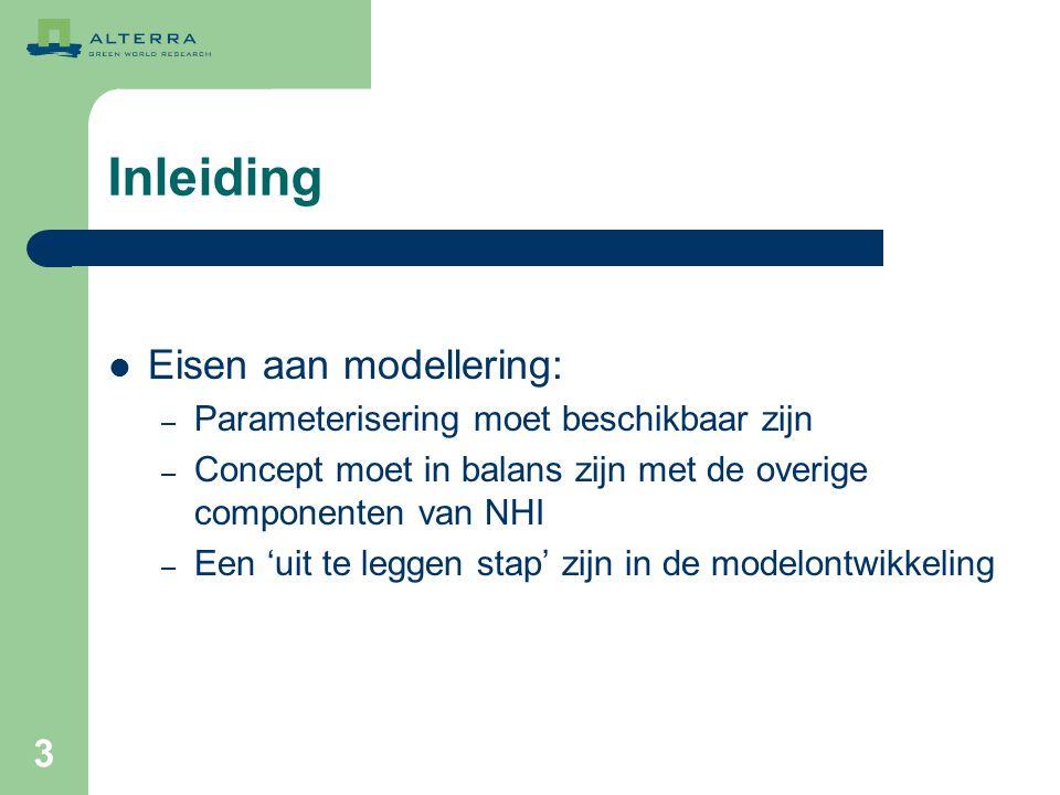 Inleiding Eisen aan modellering: