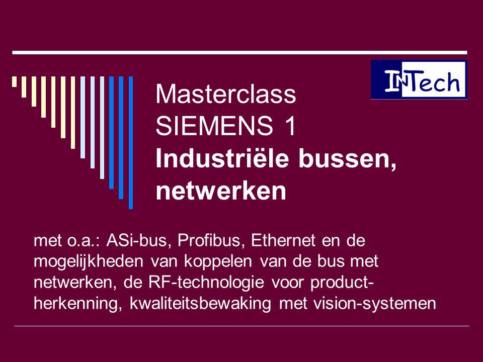 Masterclass SIEMENS 1 Industriële bussen, netwerken