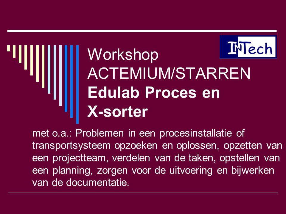 Workshop ACTEMIUM/STARREN Edulab Proces en X-sorter