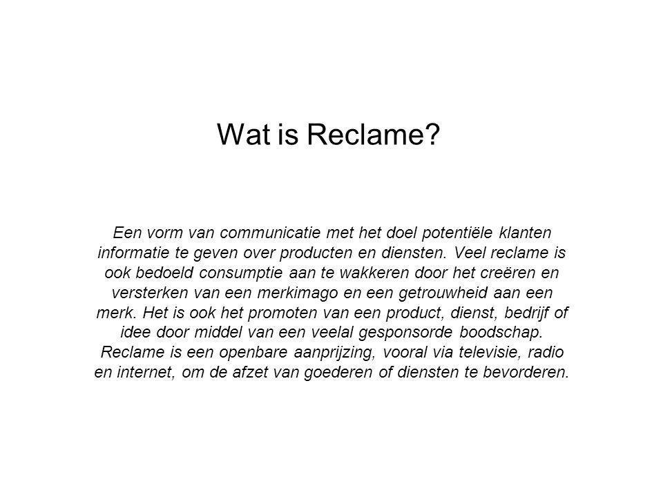 Wat is Reclame