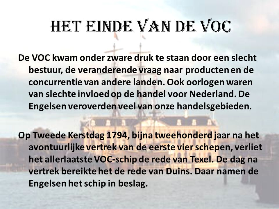 Het einde van de VOC