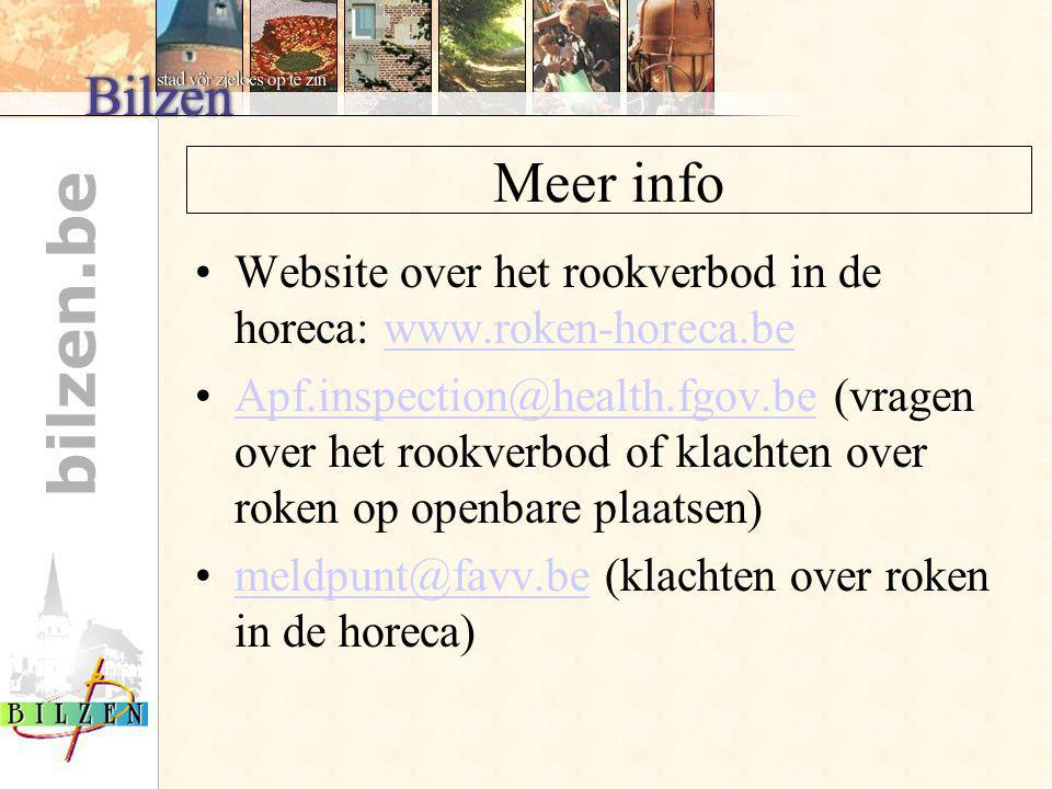 Meer info Website over het rookverbod in de horeca: www.roken-horeca.be.