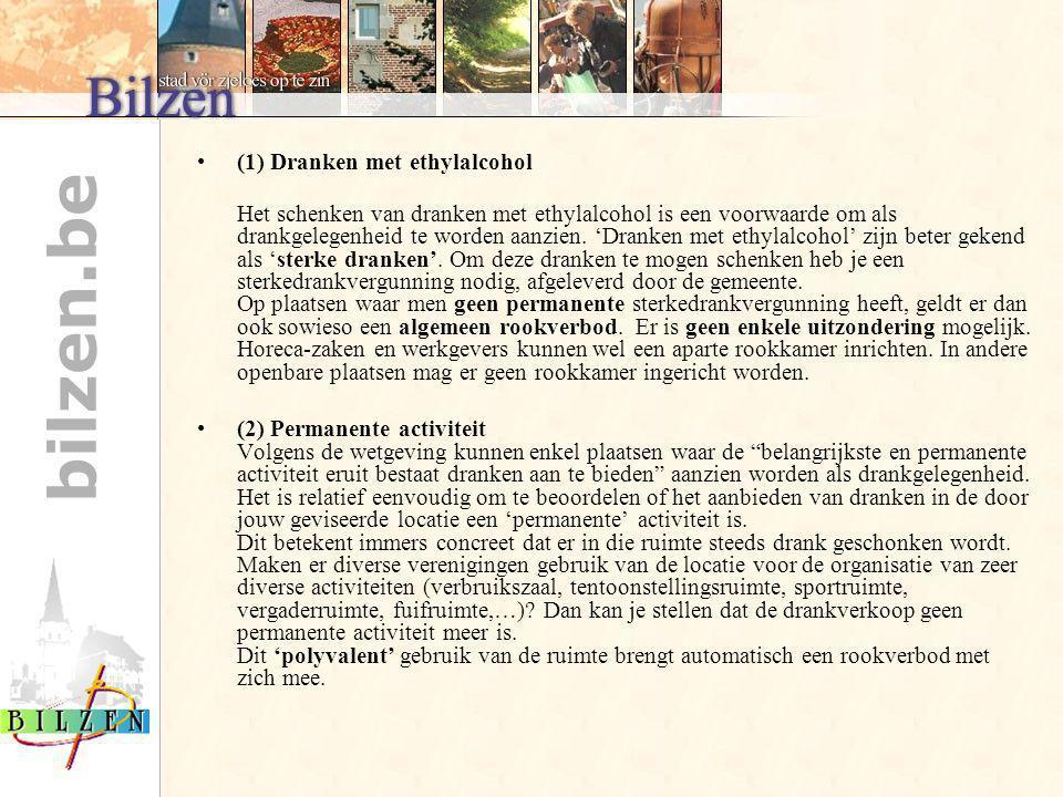 (1) Dranken met ethylalcohol