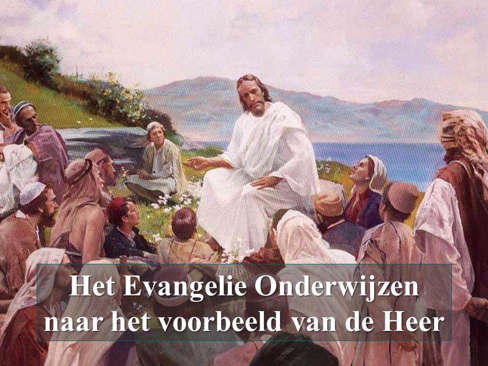Het Evangelie Onderwijzen naar het voorbeeld van de Heer