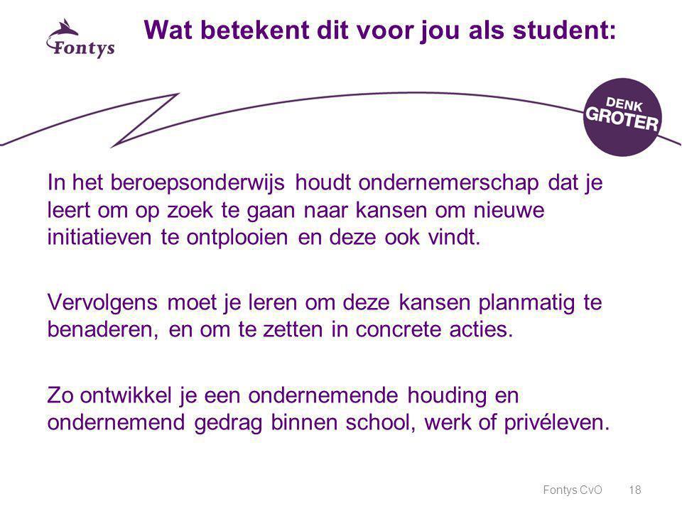 Wat betekent dit voor jou als student: