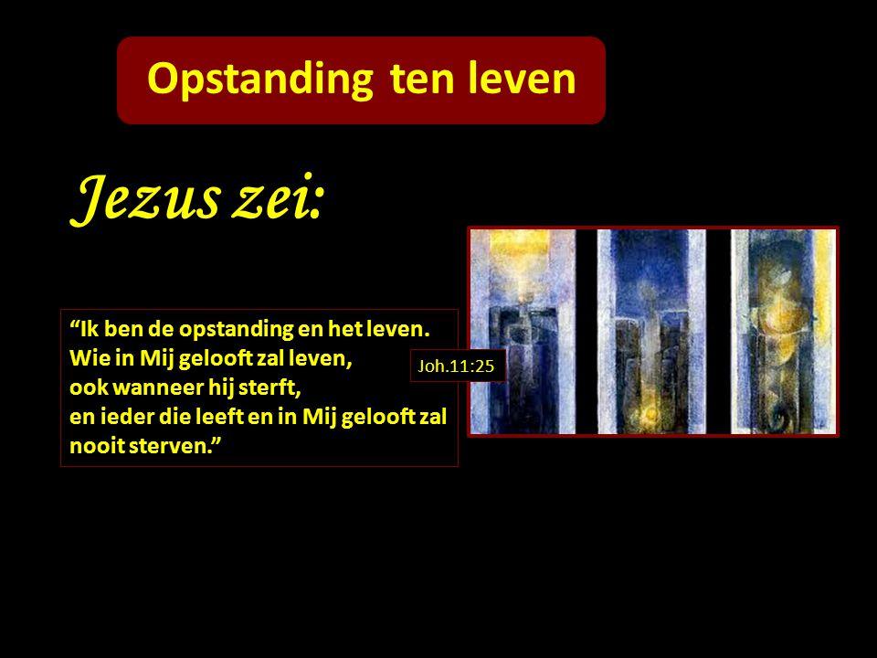 Jezus zei: Opstanding ten leven Ik ben de opstanding en het leven.