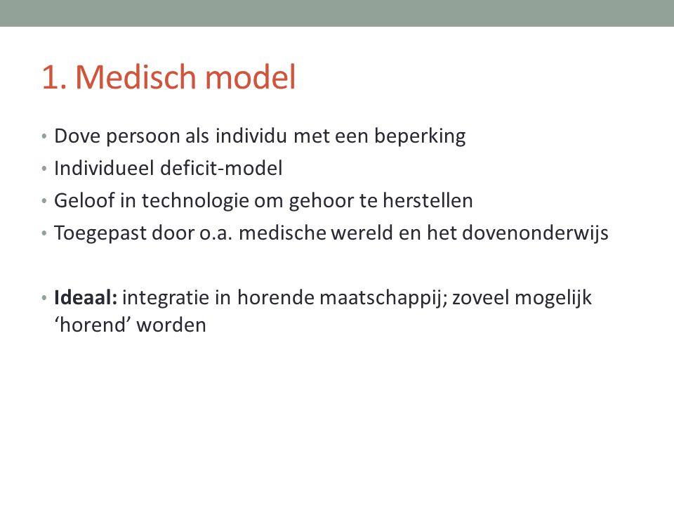 1. Medisch model Dove persoon als individu met een beperking