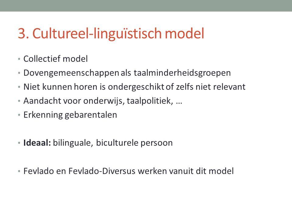 3. Cultureel-linguïstisch model