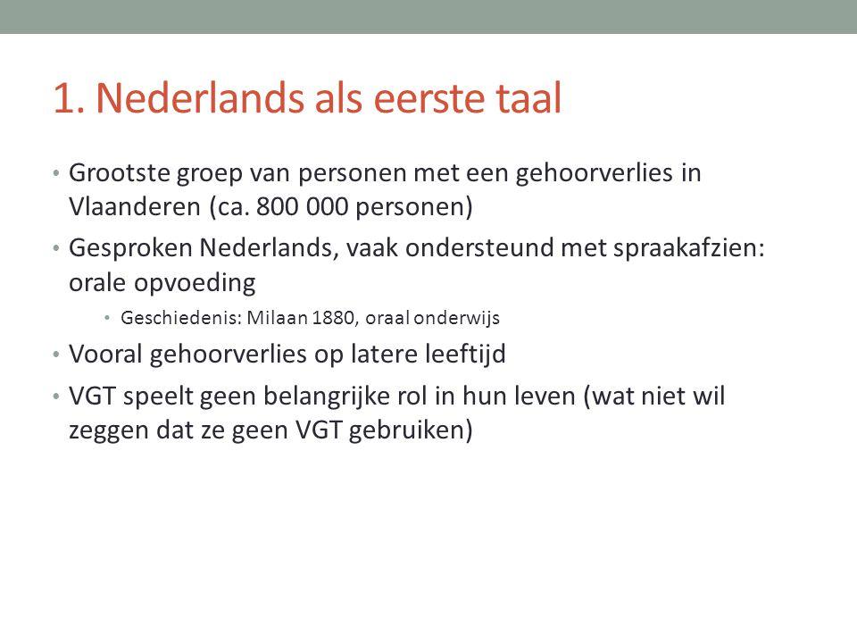 1. Nederlands als eerste taal