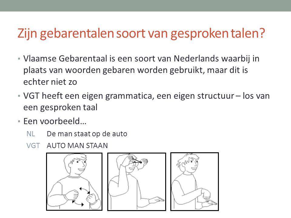 Zijn gebarentalen soort van gesproken talen