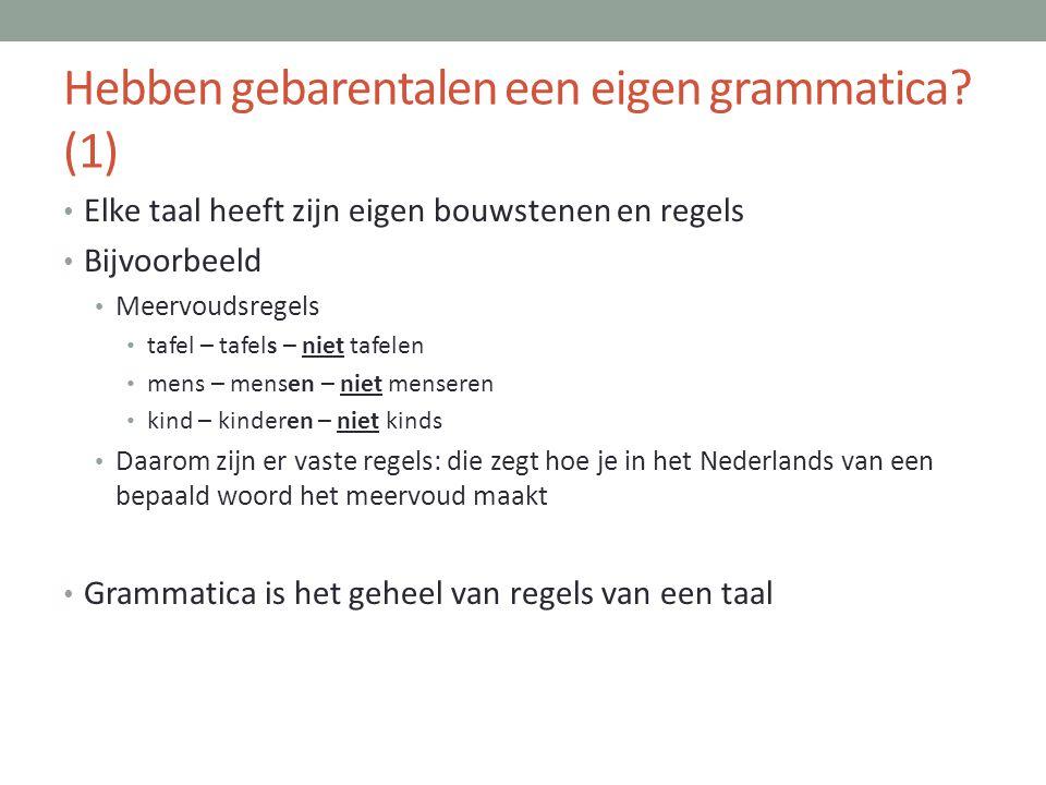 Hebben gebarentalen een eigen grammatica (1)