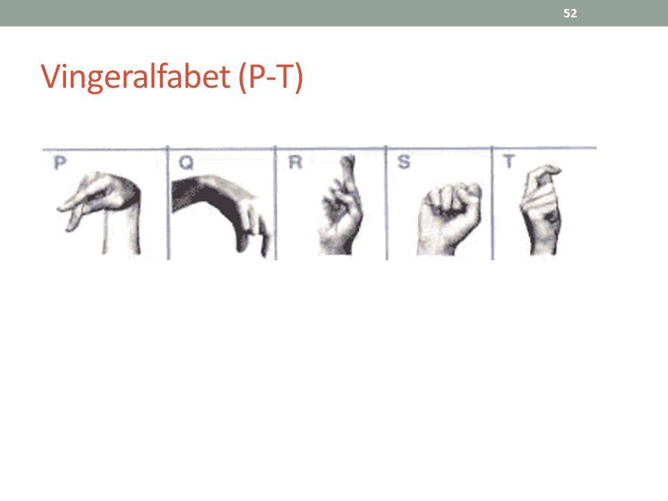 Vingeralfabet (P-T)