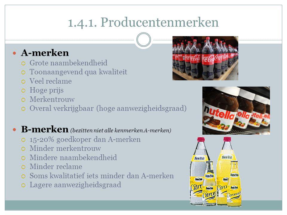 1.4.1. Producentenmerken A-merken