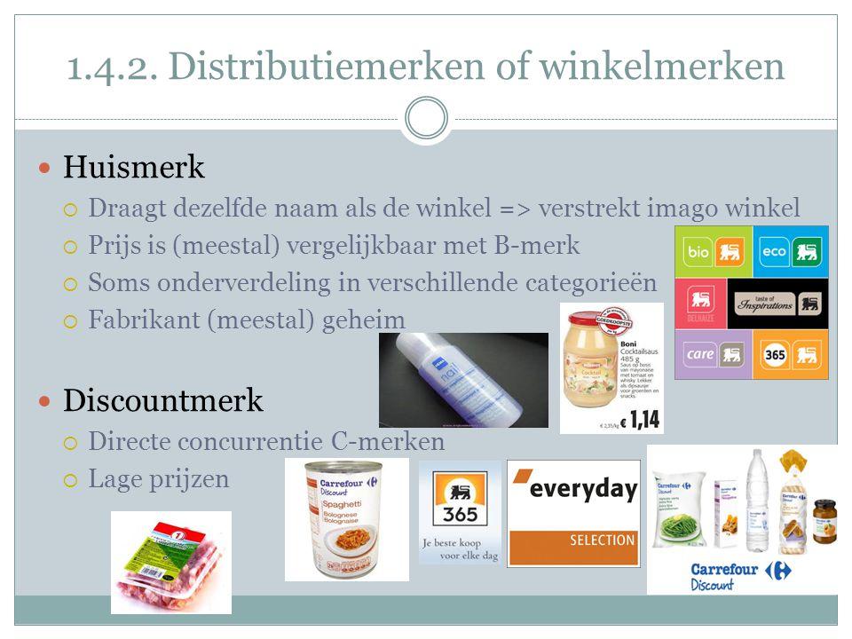 1.4.2. Distributiemerken of winkelmerken