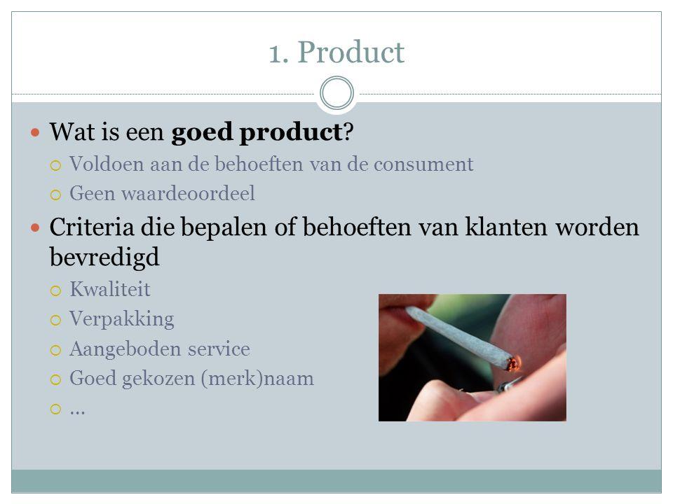 1. Product Wat is een goed product