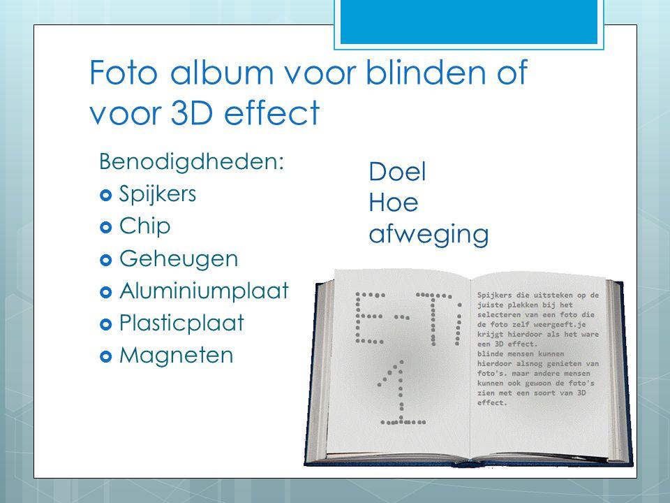 Foto album voor blinden of voor 3D effect