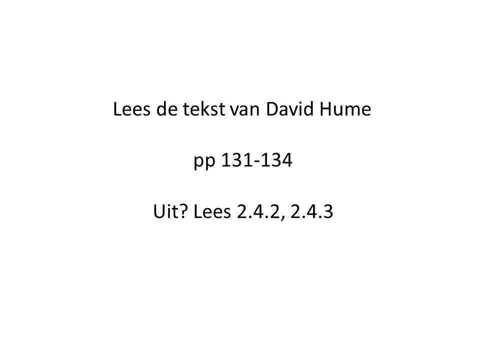 Lees de tekst van David Hume