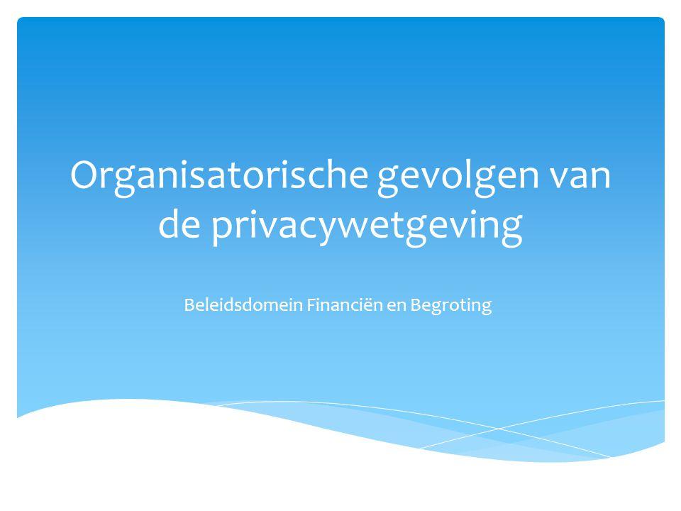 Organisatorische gevolgen van de privacywetgeving