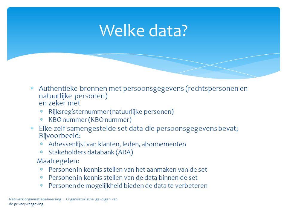 Welke data Authentieke bronnen met persoonsgegevens (rechtspersonen en natuurlijke personen) en zeker met.