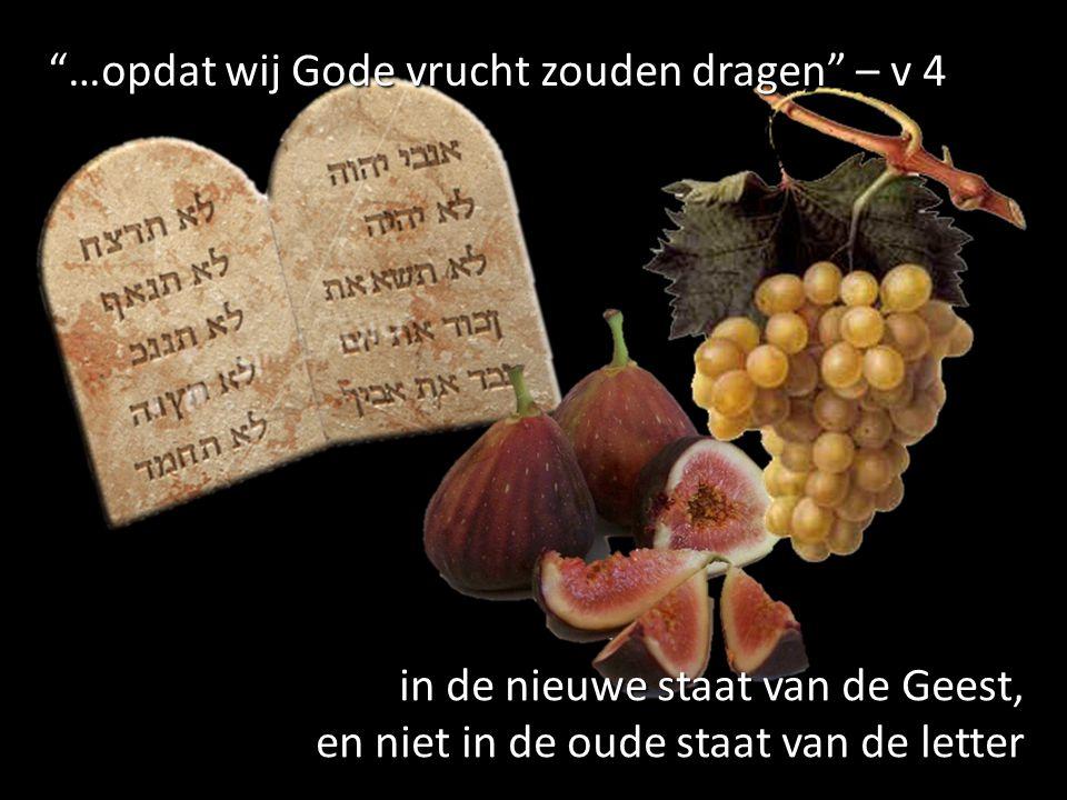 …opdat wij Gode vrucht zouden dragen – v 4