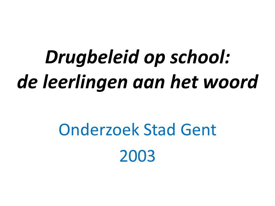 Drugbeleid op school: de leerlingen aan het woord