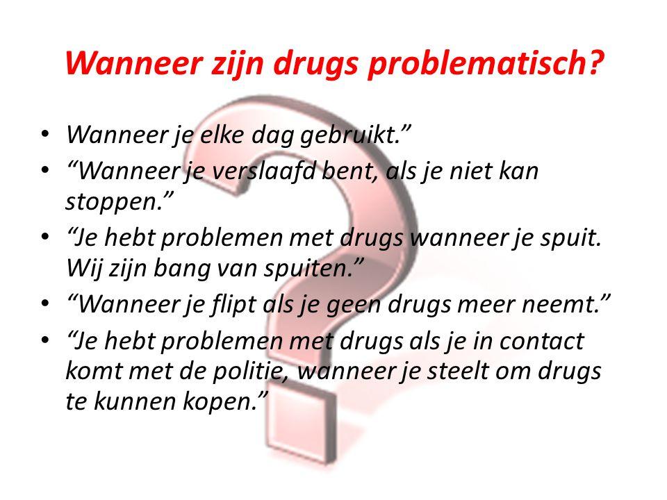 Wanneer zijn drugs problematisch