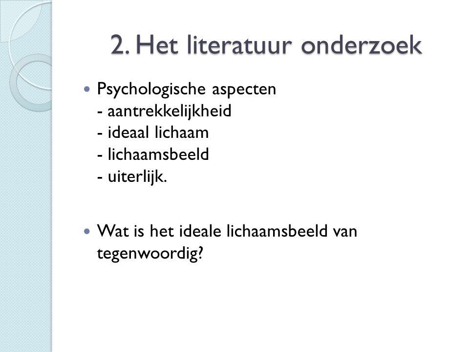 2. Het literatuur onderzoek