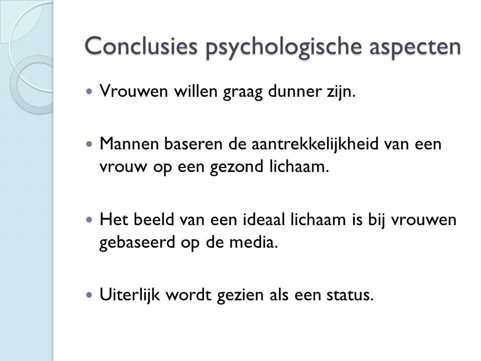 Conclusies psychologische aspecten