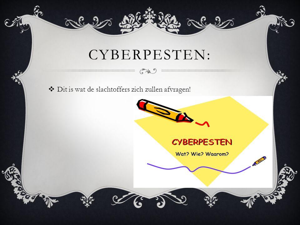 Cyberpesten: Dit is wat de slachtoffers zich zullen afvragen!
