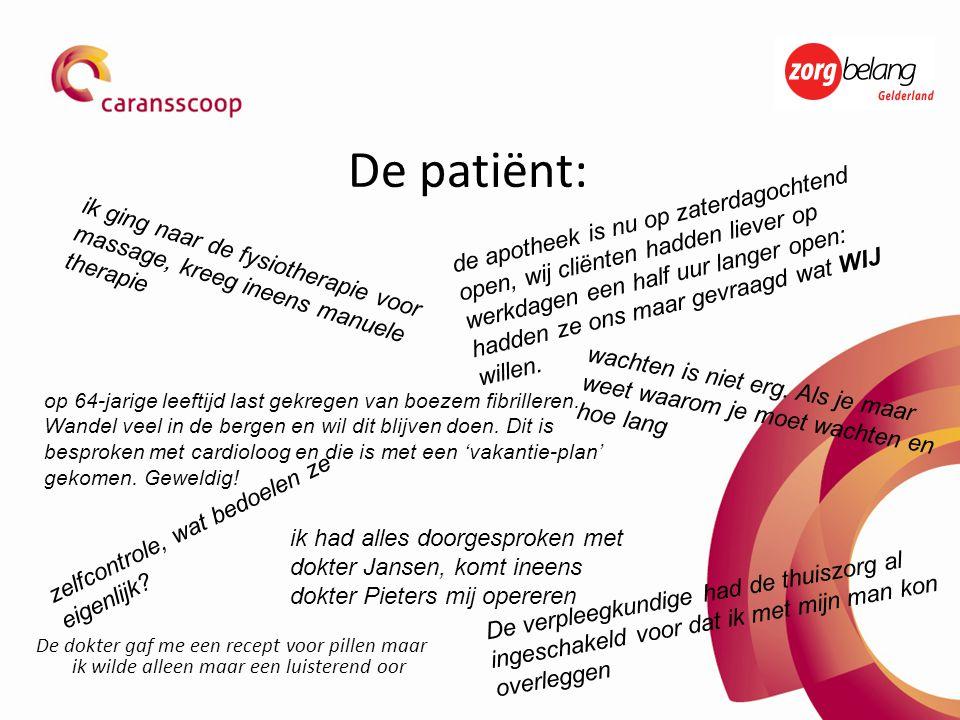 De patiënt: