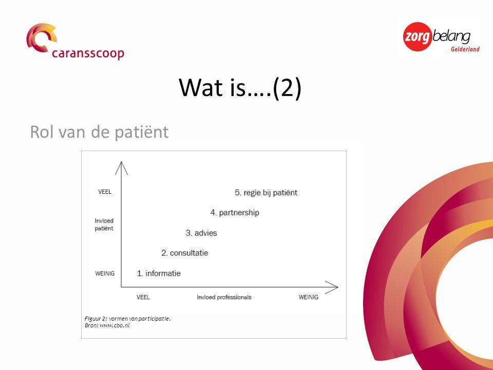 Wat is….(2) Rol van de patiënt