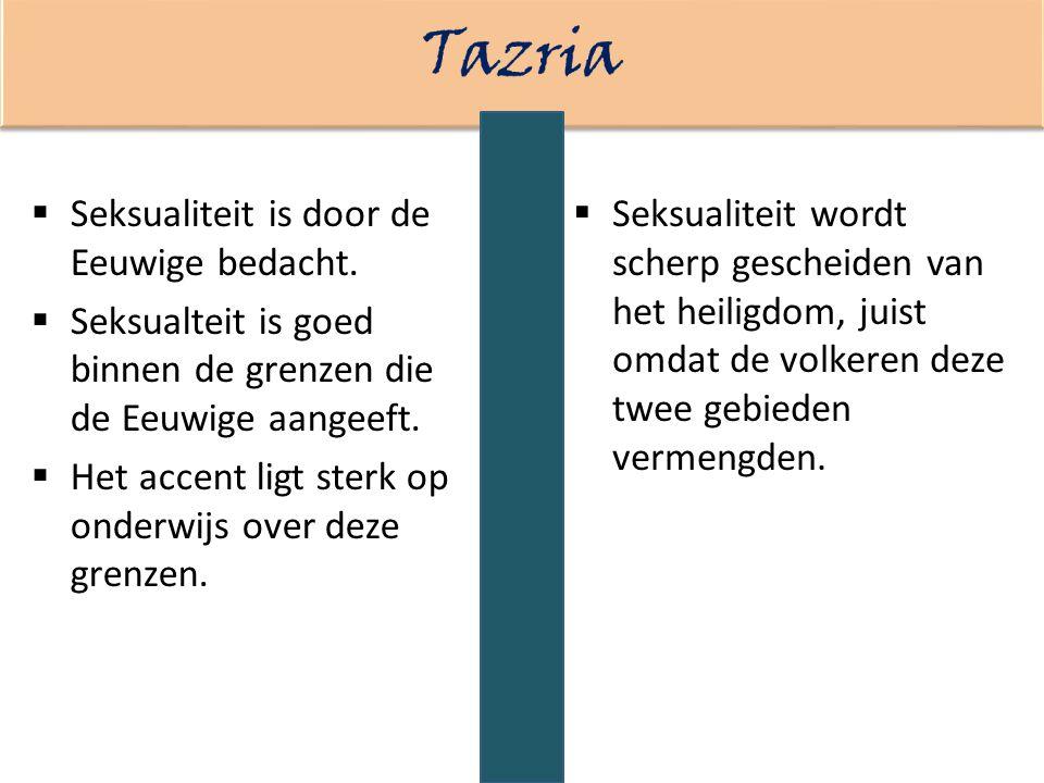Tazria Seksualiteit is door de Eeuwige bedacht.