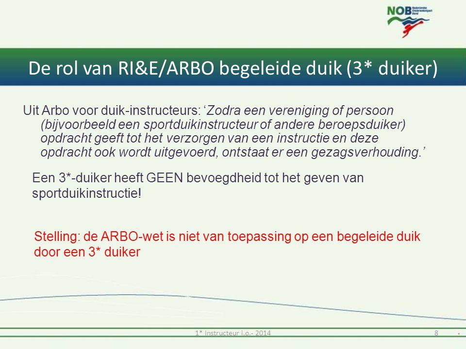 De rol van RI&E/ARBO begeleide duik (3* duiker)