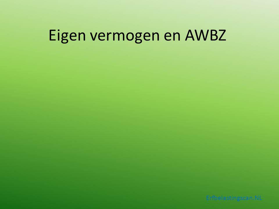 Eigen vermogen en AWBZ Erfbelastingscan.NL