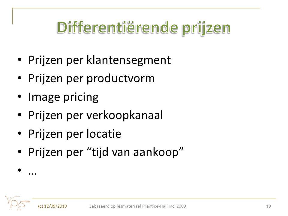 Differentiërende prijzen