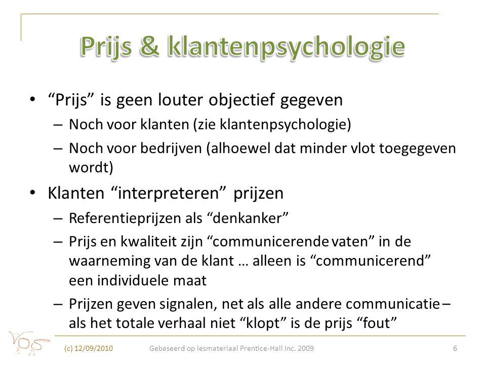 Prijs & klantenpsychologie