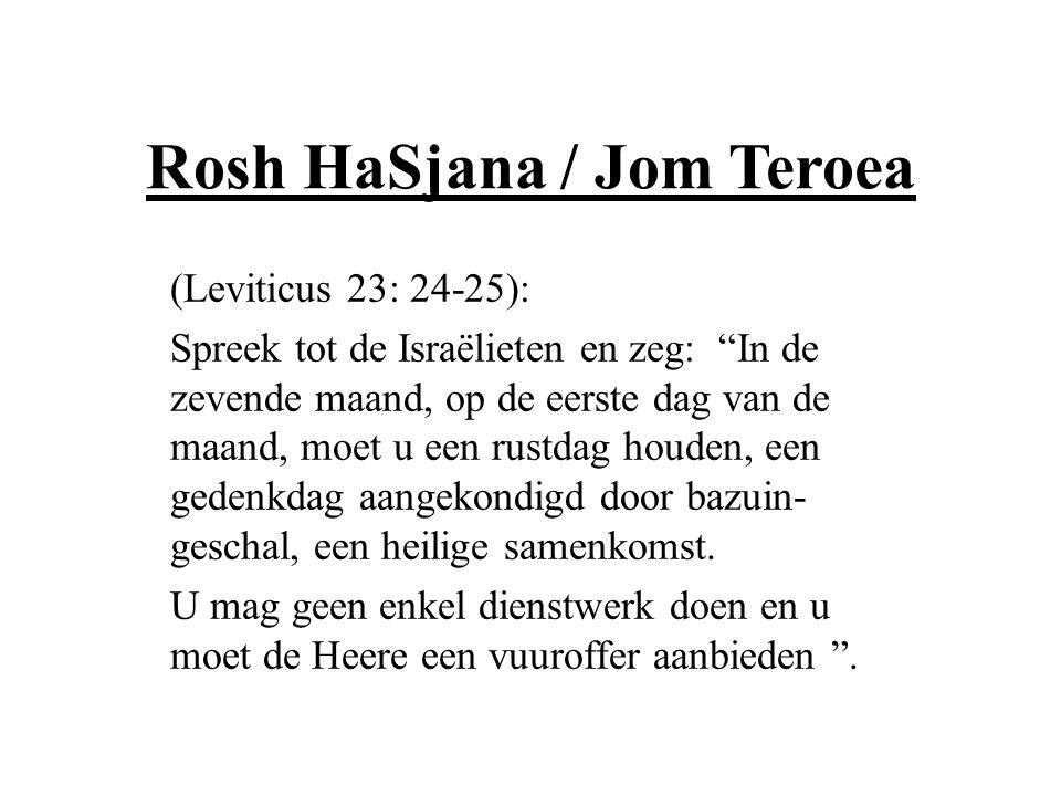 Rosh HaSjana / Jom Teroea