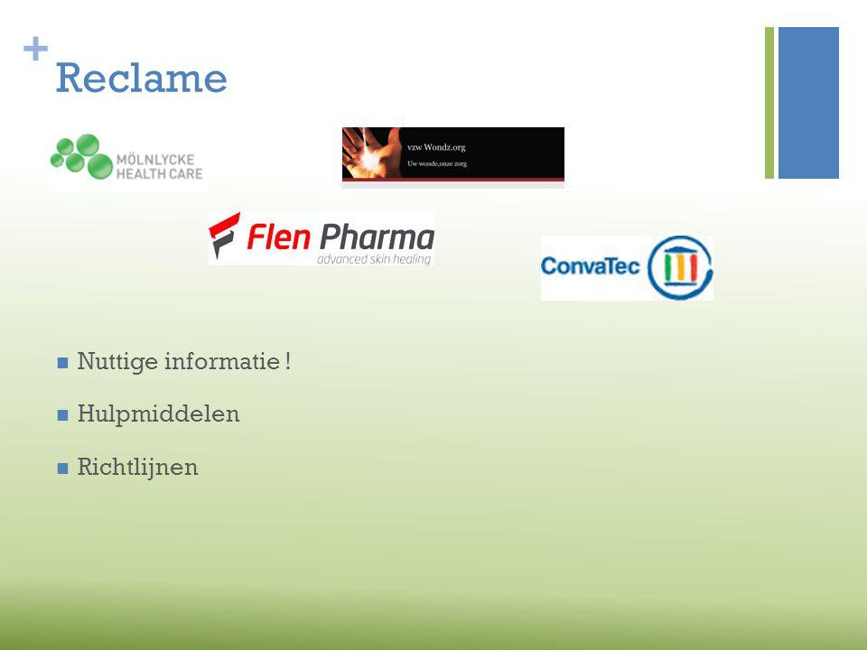 Reclame Nuttige informatie ! Hulpmiddelen Richtlijnen