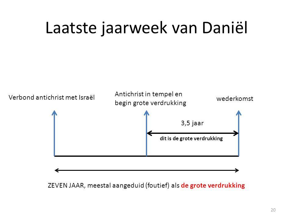 Laatste jaarweek van Daniël