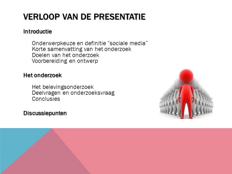 Verloop van de presentatie
